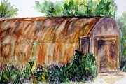 Old Barn Paintings - Tin Barn in Clovis by Vicki  Housel