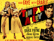 Lobbycard Framed Prints - Tin Pan Alley, Alice Faye, Betty Framed Print by Everett