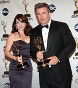 Fey Posters - Tina Fey, Alec Baldwin In The Press Poster by Everett