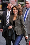 Paparazziec Photo Prints - Tina Fey At Talk Show Appearance Print by Everett