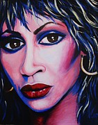 Tina Turner Prints - Tina Turner - Anna Mae Print by Anne Gardner