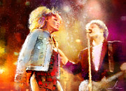 Tina Turner Prints - Tina Turner and Bryan Adams Print by Miki De Goodaboom