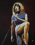 Kim Selig Metal Prints - Tina Turner Metal Print by Kim Selig