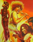 Black Art Paintings - Tina Turner by Ronald Young