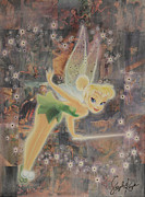 Swarovski Crystals Painting Originals - Tinkerbell by Stapler-Kozek