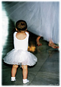 Canvas Framed Prints - Tiny Ballerina Baby Framed Print by Constance Woods