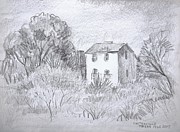 Texas Drawings - Tiny Country House by Bill Joseph  Markowski