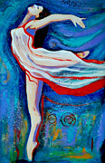 Dancer Paintings - Tiny dancer by Claudia Fuenzalida Johns