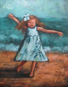 Dancing Girl Paintings - Tiny Dancer by Karen Smith