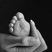 Sketch Originals - Tiny Feet  by Peter Piatt