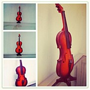 Music Art - Tiny Violin #violin #music #orchestra by Ilham Hanifil Ishom