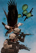 Patriotism Painting Posters - Tip of the Spear Poster by Dan  Nance