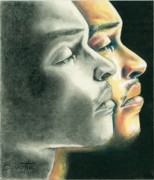 African-american Drawings - Tips Transition by Keith Burnette