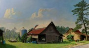 Old Barns Painting Prints - Tired and Retired Print by Doug Strickland