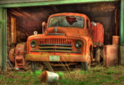 Old Pickup Photos - Tired Old Truck by Tracy Thomas