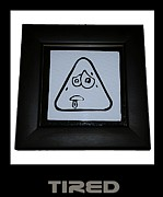 Emoticon Framed Prints - Tired Framed Print by Sirajudeen Kamal Batcha