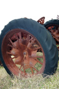 Rusty Tractor Tires Acrylic Prints - Tired Tractor Acrylic Print by Joy Tudor