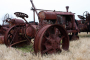 Old Tractors Photos - Tireless by Joy Tudor