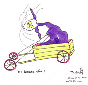 Wheel Drawings - Tis BoxCar Willie by Tis Art