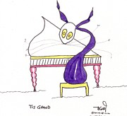 Cats Drawings Originals - Tis Grand by Tis Art