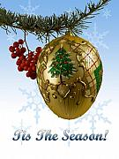 Christmas Card Greeting Cards - Tis The Season by John Radosevich