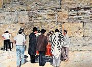 Jerusalem Painting Metal Prints - Tisha BAv Metal Print by Abraham Zimmermann