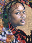 African Cloth Framed Prints - Tishauna 7.1 Framed Print by Gary Williams