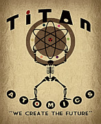 Retro Art Posters - Titan Atomics Poster by Cinema Photography