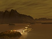 Spacecraft Photos - Titan Exploration, Artwork by Walter Myers