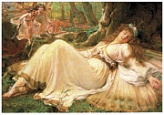 Medieval Paintings - Titania by Frederick Howard Michael