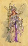 Titania Queen Of The Fairies A Midsummer Night's Dream Print by C Wilhelm