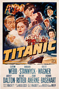 Films By Jean Negulesco Prints - Titanic, Clifton Webb, Barbara Print by Everett