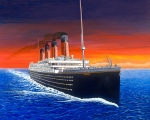 Fantasy Landscape Mixed Media - Titanic by David Linton