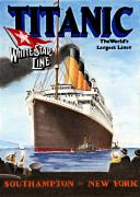 Shipping Posters - Titanic for my Wife Poster by Lyle Brown