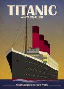Art-deco Acrylic Prints - Titanic Ocean Liner Acrylic Print by Michael Tompsett