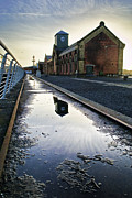 Puddle Prints - Titanic Series No1. Thompson Drydock Pumphouse Print by Chris Cardwell