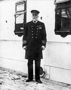 Titanic Photos - Titanic: The Captain, 1912 by Granger