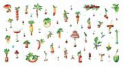 Vegetable Drawings Prints - Titbit Print by Kestutis Kasparavicius