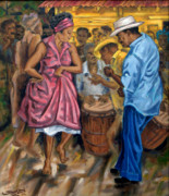 Drums Paintings - Tite y Norma by Samuel Lind