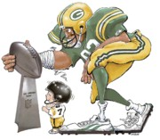 Green Bay Packers Mixed Media - Titletown Bound by Gale Engelke
