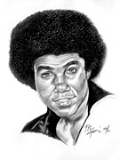 Jackson Five Drawings Posters - Tito Jackson Poster by Michael Harris
