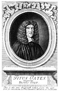 Clergy Photo Metal Prints - Titus Oates (1649-1705) Metal Print by Granger