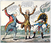 Democratic Republican Posters - T.jefferson Cartoon, 1809 Poster by Granger
