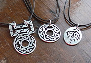 Game Jewelry - Tlachco and Bradshaw pendants by Galeria Rossmore