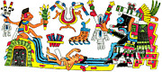 Borgia Posters - Tlaloc, Aztec God Of Rain, 15th Century Poster by Photo Researchers