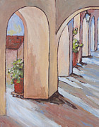 Shadows Paintings - Tlaquepaque Arches by Sandy Tracey