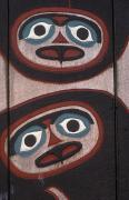 Tlingit Posters - Tlingit Carved Faces On Chief Shakes Poster by Rich Reid