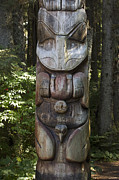 Image Of Native American Posters - Tlingit Totem Pole, Sitka National Poster by Matthias Breiter