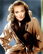 Trench Coat Framed Prints - To Be Or Not To Be, Carole Lombard, 1942 Framed Print by Everett