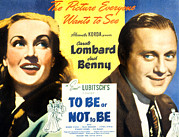 Films By Ernst Lubitsch Framed Prints - To Be Or Not To Be, Carole Lombard Framed Print by Everett